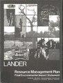 Final resource management plan-environmental impact statement for the Lander Resource Area, Lander, Wyoming (IA finalresourceman02unit).pdf