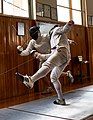 Final stage of a parried flèche performed by the Épée fencer Nikos Xynos.jpg