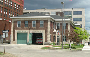 Detroit Fire Department - The quarters of Engine 17, Ladder 7, and Chief 5 at 6100 2nd St.