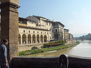 Banks of the Arno, seen from the Ponte Vecchio...