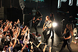 Firewind performing live in Shanghai