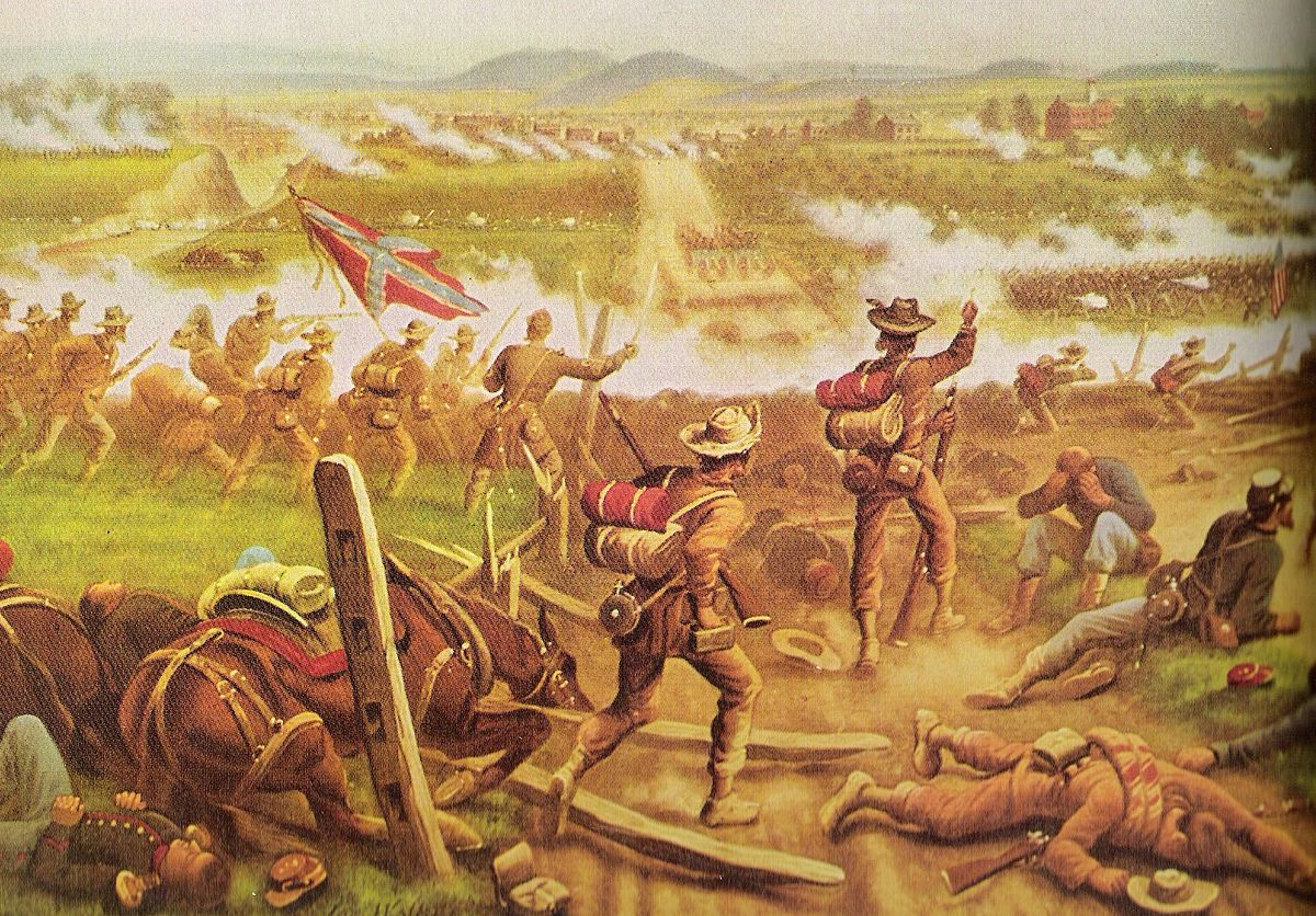 a description of the men losing blood in the battle at gettysburg The battle of gettysburg was a significant turning point of the civil war because it prevented a confederate invasion of the north and eliminated about one-third of general lee's men.