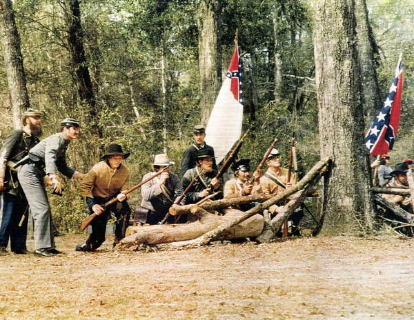 First reenactment of the Battle of Natural Bridge of 1865 in 1975