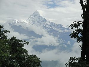 Machapuchare - Early Morning View of Fishtail Mountain  ( Machhapuchare), from Sarangkot