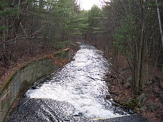 Five Mile River (East Brookfield River tributary) - Five Mile RIver in Spencer