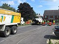 Fixing up the road in front of Oakridge Juniors - geograph.org.uk - 981413.jpg