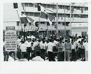Martyrs' Day (Panama) - Flag Demonstration near the Gorgas Hospital