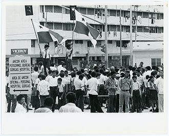 Gorgas Hospital - Demonstrations 1964 near the Hospital on Martyrs' Day
