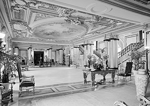 Whitehall (Henry M. Flagler House) - Interior of the Main Hall, 1972