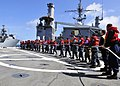 Flickr - Official U.S. Navy Imagery - Sailors handle lines aboard USS Cleveland during replenishment at sea..jpg