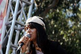 Bat For Lashes in concerto all'Outside Lands di San Francisco.