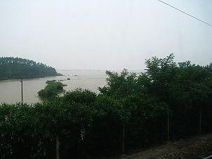 2010 China floods - Image: Flooding along Ganjiang, Jiangxi, June 2010