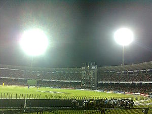 R. Premadasa Stadium - Image: Floodlighted RPS International Cricket Stadium