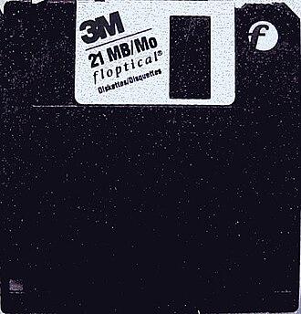 Floptical - The 21 MB Floptical 3½-inch disk