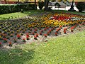 Flower bed, Central Park west in Gyömrő, Pest County, Hungary.jpg