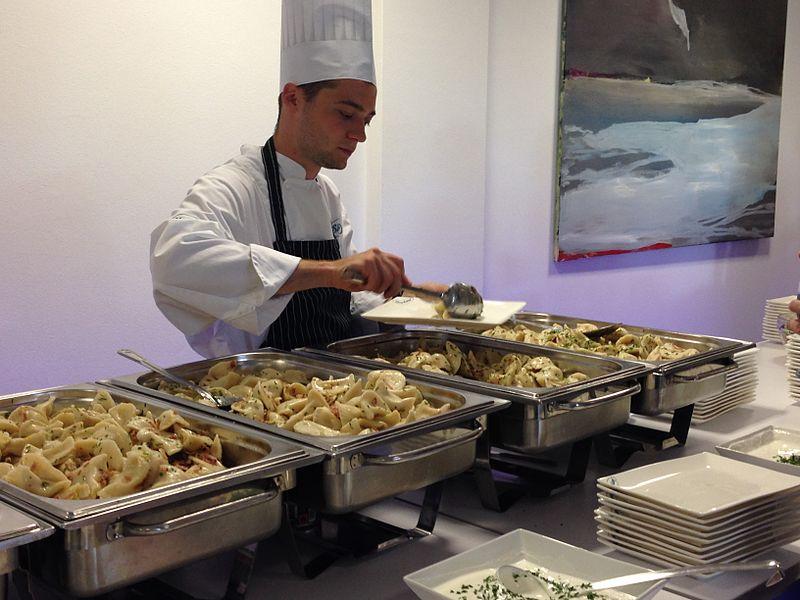 File:Food at a buffet in the Pan-European University, Bratislava, Slovakia - 20140723-02.jpg