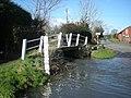Footbridge at Brockton ford - geograph.org.uk - 680541.jpg