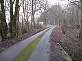 Footpath and road to Violets Farm - geograph.org.uk - 1713234.jpg