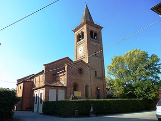 Monluè - The church of Saint Lawrence in Monluè