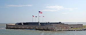 Fort Sumter in South Carolina, USA.
