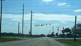 Fort Lonesome, Florida - SR 674/CR 39 intersection