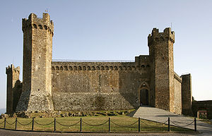 Castle (Fortezza) at Montalcino, Siena, Italy....