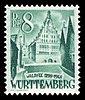 Fr. Zone Württemberg 1948 16 Rathaus Bad Waldsee.jpg