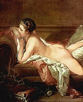 François Boucher, Ruhendes Mädchen (1752, detail).jpg