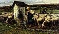 Francesco Filippini, Sosta - Gregge - Vespero,, 1891 ca., olio su tela,, 104 x 177 cm, Musei Civici d'Arte e storia (Brescia), inv. 734.jpg