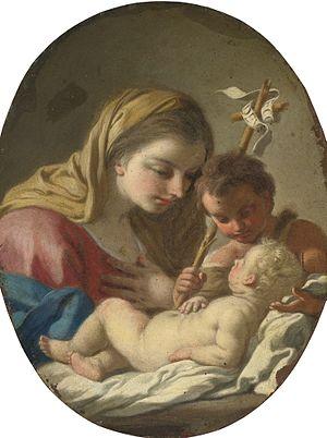 Francesco de Mura - Madonna and Child with the Infant Saint John the Baptist
