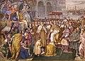Francesco salviati e giuseppe porta detto il salviatino, Riconciliazione di papa Alessandro III e Federico Barbarossa, 1565-75, 04.jpg