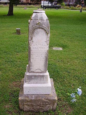Frank Dalton - Frank Dalton's Grave in Coffeyville, KS