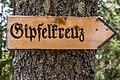 Frauenstein Nussberg Gauerstall Wegweiser zum Gipfelkreuz 21042020 8833.jpg