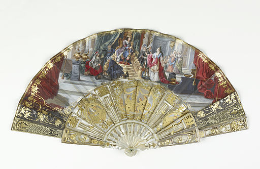 French - Folding Fan and Case - Walters 866