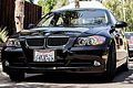 Front view of a BMW pre-LCI North American black color California E90.jpg