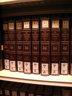 <i>Encyclopedia Americana</i> encyclopedic dictionary