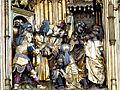 Güstrow Marienkirche - Hochaltar Passionszyklus 3a Jesus vor Kaiphas.jpg