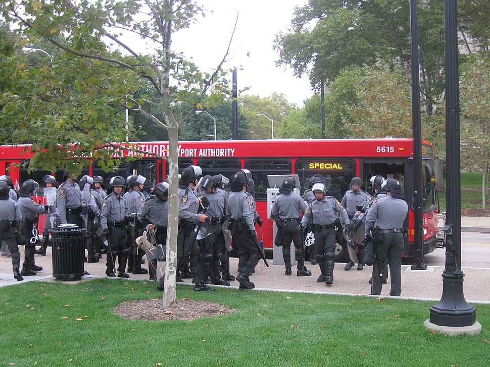 G20 PGH riot police bus