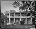 GENERAL VIEW; SOUTH (FRONT) ELEVATION - The Oaks, 100 Laurens Street, Beaufort, Beaufort County, SC HABS SC,7-BEAUF,26-1.tif