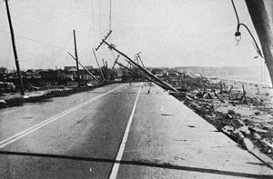 1938 New England hurricane - Damage in Island Park, Rhode Island