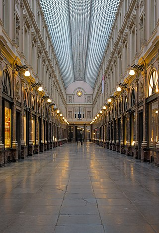 Galerie de la Reine in Brussels (empty due to the COVID-19 pandemic)