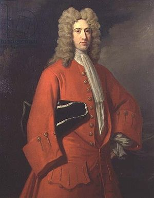 Galfridus Walpole - Charles Jervas portrait of Galfridus Walpole whose right arm was lost at Vado Bay in 1711