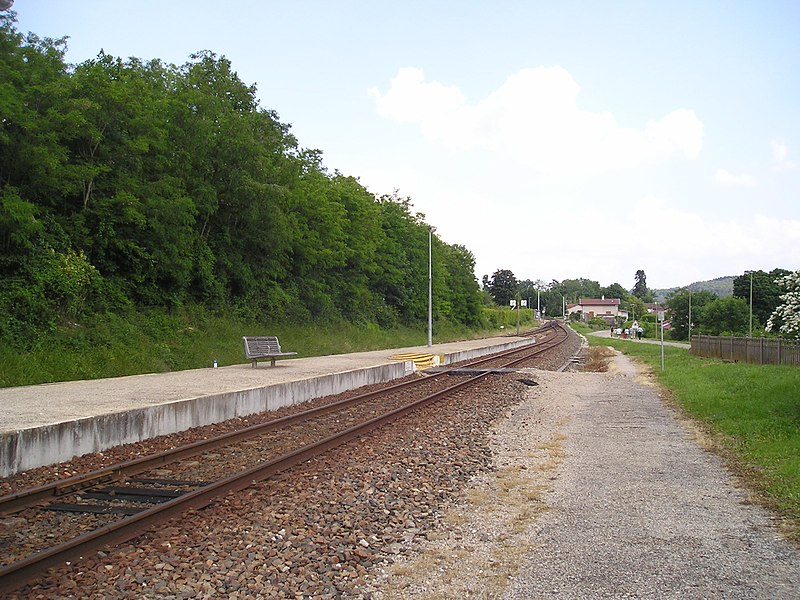 Railroad station of Ceyzériat in 2005