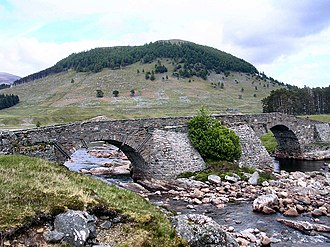 Battle of Prestonpans - The military road through Corrieyairack Pass; control allowed the Jacobites to descend on Edinburgh