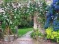Gate and flowers, Trelowarren House - geograph.org.uk - 492794.jpg