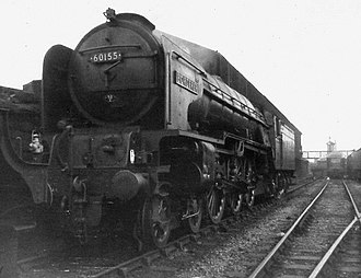 LNER Peppercorn Class A1 - 60155 Borderer by the coaling stage at Gateshead depot in April 1964
