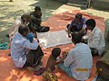 Gathering in a meeting of villagers in an Bangladeshi village 2015 28.jpg