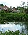 Geese on the River Lark, Mildenhall - geograph.org.uk - 1309818.jpg