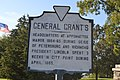 General Grant's (headquarters) historical marker in Hopewell.jpg