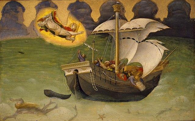 Спасение моряков. Джентиле да Фабриано, ок. 1425